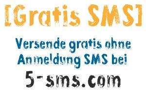 Gratis SMS ohne Anmeldung bei 5-sms.com